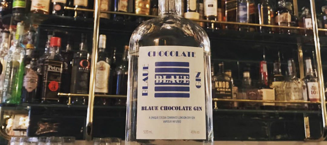 blaue chocolate gin