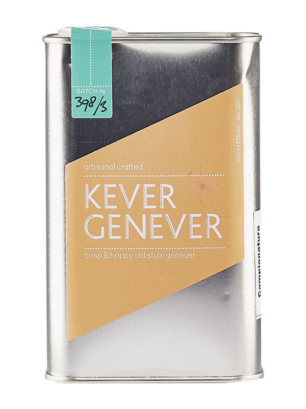 Kopstoot-Kever-Genever-bottiglia